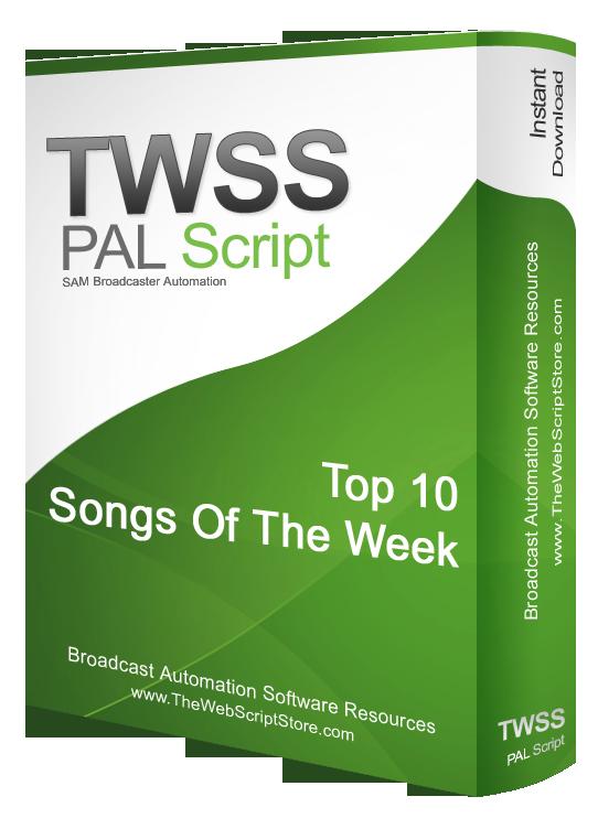 Sam Broadcaster Top Ten Songs Of The Week Pal Script
