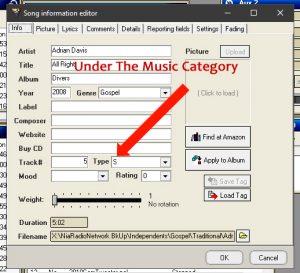 SAM Broadcaster Song Info Editor